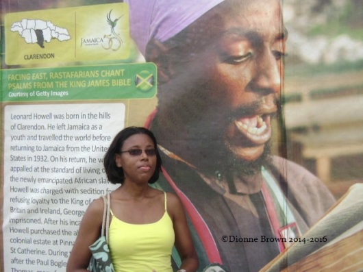 This eye-catching display highlighting Rastafari in Jamaica was at the Jubilee Village during the 50th anniversary celebration of independence in 2012.